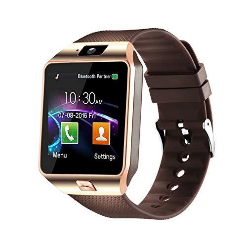 Aeifond Smart Watch DZ09 Bluetooth Smartwatch Touch Screen Wrist Watch Sports Fitness Tracker with Camera SIM SD Card Slot Pedometer Compatible iPhone iOS Samsung LG Android Kids Men Women (Gold) (Iphone 5s Gold Sim Slot)