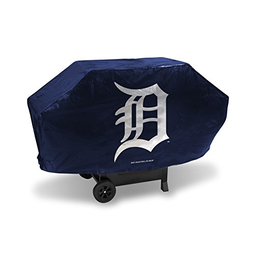 (Rico Industries MLB Detroit Tigers Deluxe Grill Cover, Black, 68 x 21 x 35)