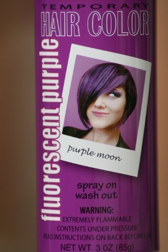 Spray On Wash Out Purple Hair Color Temporary Hairspray Great For Costume or Halloween Party Stage Concert Rave Hair Spray ()