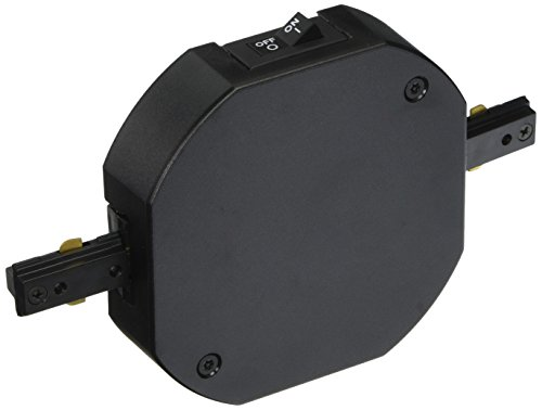 WAC Lighting THL-HI-1-1A-BK Double Live End H Track Current (Lighting Track Current Limiter)