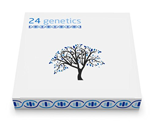 24Genetics all-in-one DNA Test for Ancestry (Regional), Health, Nutrigenetics, Pharmacogenomics, Skin Care and Sports. Includes at-home swab collection kit by 24Genetics