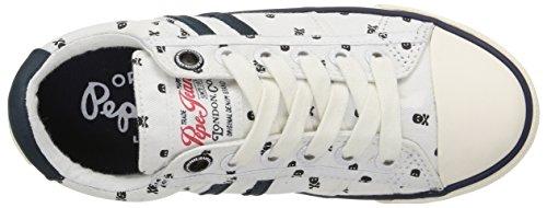 Pepe Jeans Serthi Skulls Jungen Sneaker Weiß - Blanc (800 White)