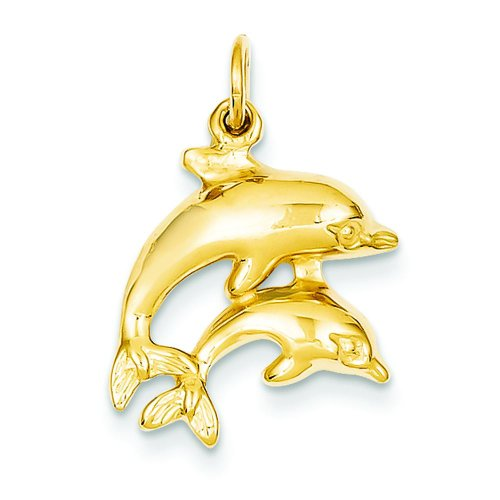 14K Gold Dolphin Charm Jewelry FindingKing ()