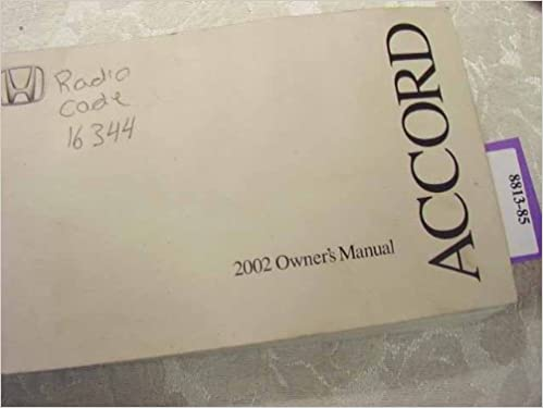 2002 honda accord owners manual honda amazon books fandeluxe Choice Image