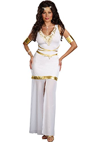 Mememall Fashion Greek Goddess of Love Aphrodite Plus Size Halloween Costume (Aphrodite Costume Child)