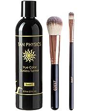 Tan Physics True Color Sunless Tanner 8 fl oz w/ FREE 2-Piece Self Tan Applicator Brush Set