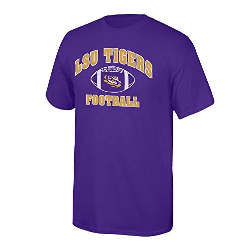 Elite Fan Shop NCAA Men's Lsu Tigers Team Color Football T-shirt Lsu Tigers Purple Large