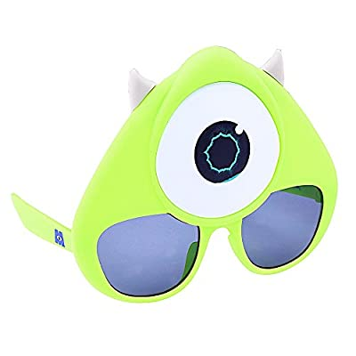 Costume Sunglasses Monsters Mike Wazowski Sun-Staches Party Favors UV400: Toys & Games