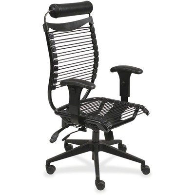 Seatflex Series Swivel - Seatflex Series Swivel/Tilt Chair w/Headrest & Arms, Black by BALT INC. (Catalog Category: Furniture & Accessories / Chairs / Guest & Side)