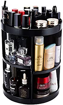 JADREAM Rotating Makeup 6 Layers Adjustable Large Makeup Organizer