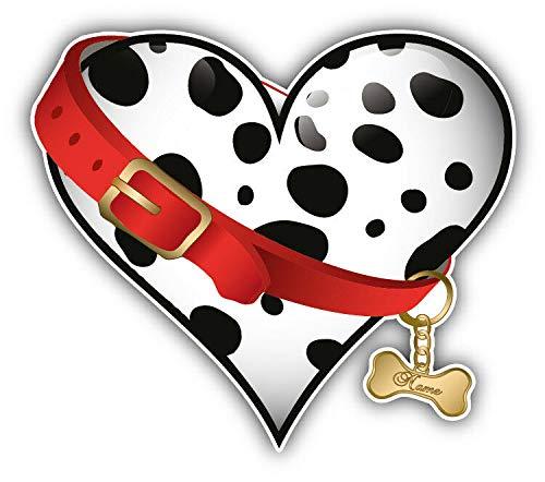 Magnet Dalmatian Heart Love Vinyl Magnet Bumper Sticker Magnet Flexible Vinyl Magnetic 5