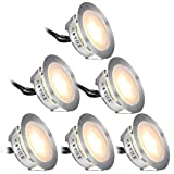 Recessed LED Deck Lights Kits 6 Pack,SMY(Upgrade Version) In Ground Outdoor LED Deck Lighting Waterproof IP67,Low Voltage LED Lights for Garden,Yard Steps,Stair,Patio,Pool Deck,Kitchen Decoration Review