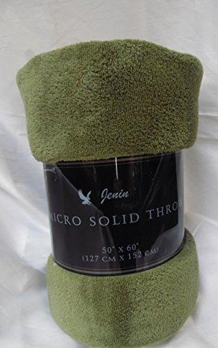 Gorgeous Home Small throw soft blanket Microplush Comfort Cozy fleece, 50 Inch x 60 inch, DARK GREEN