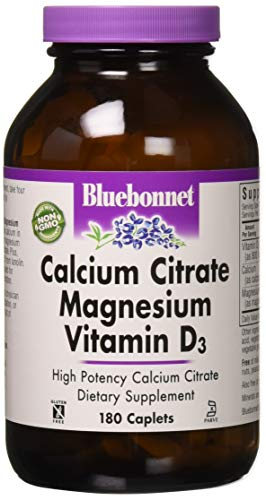 BlueBonnet Calcium Citrate Magnesium Plus Vitamin D3 Caplets, 180 Count