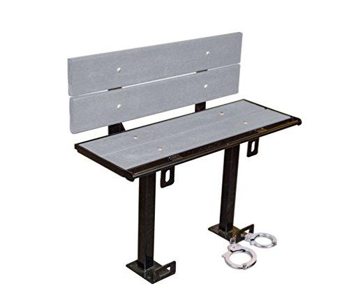 Bluff PB-3-BACK-STD-GRAY Prisoner Restraint Bench, 3', Gray by Bluff Manufacturing (Image #5)