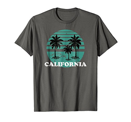 * NEW * 80's Vibe Teal California T-shirt - 5 colors - S to 3XL