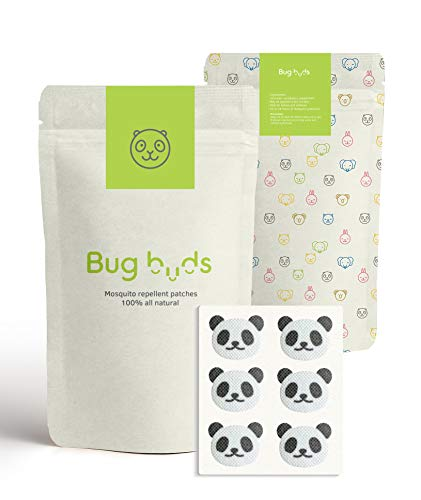 Bug Buds Mosquito Repellent Patch | DEET-Free 24hr All-Natural Bug Insect Repellent Stickers for Kids | Picnic/Travel Accessories | Safe for Babies | Best For Outdoor/Indoor Use (60 ()