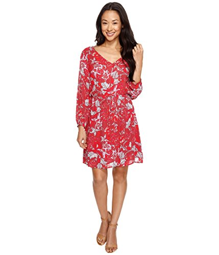 Lucky Brand Women's Anaelisa Dress, Red Multi, Large by Lucky Brand
