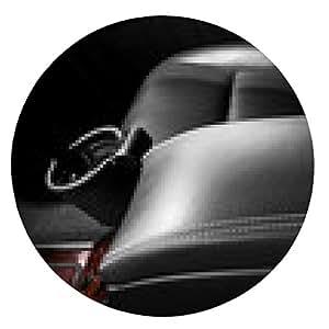 alfombrilla de ratón Detalle del interior de automóviles. reposabrazos de piel. - ronda - 20cm