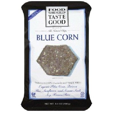 Food Should Taste Good Blue Corn Tortilla Chips, 5.5 Ounce - 12 per (Foods Blue Corn Tortilla Chips)