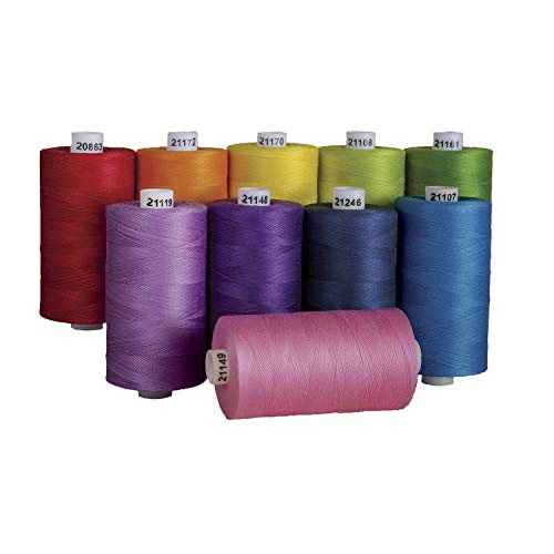 - Connecting Threads 100% Cotton Thread Sets - 1200 Yard Spools (Over The Rainbow)