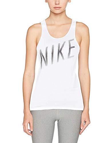 NIKE Womens Dri-Fit Racerback Tank Top White M