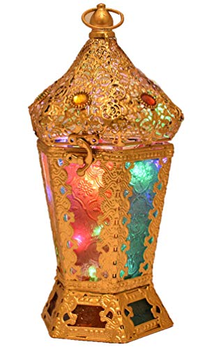 Eltahan Vintage Gold Color Moroccan Jewelry Lantern (Morroccan Lanterns)