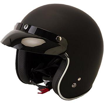 Viper RS-05 Slim Fit Open Face Scooter Motorcycle Mod Retro Helmet Matt Black
