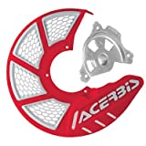 Acerbis X-Brake Vented Front Disc Cover with Mounting Kit Red/White – Fits: Honda CR125R 2002–2007