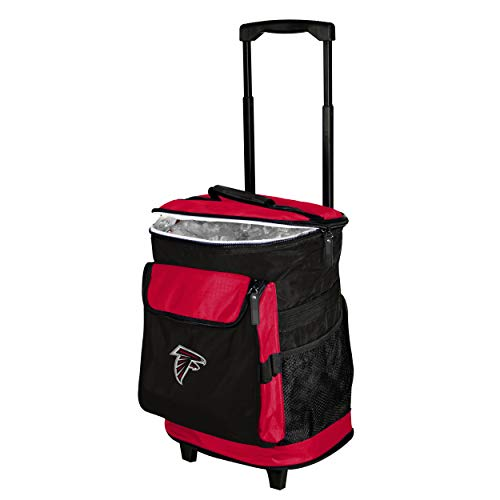 Logo Brands Atlanta Falcons 48-Can Rolling Cooler with Wheels and Backpack Straps