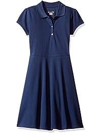 Girls' Uniform Short Sleeve Polo Dress