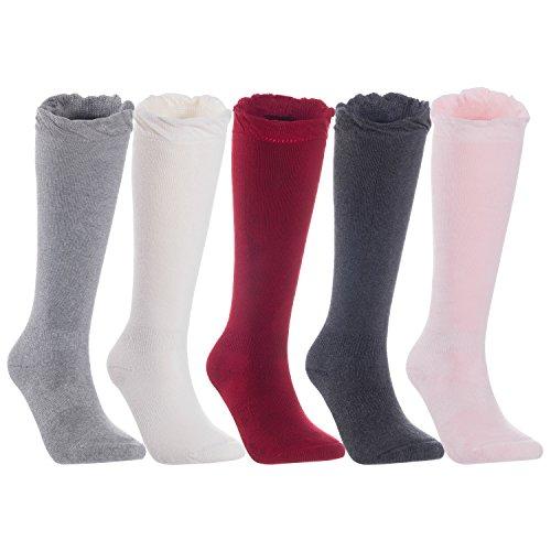 ef402d50836 Lian LifeStyle Children Knee-High Combed Cotton Blend Socks Size 0Y ...