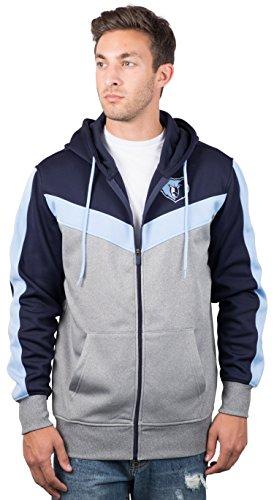 (Ultra Game NBA Memphis Grizzlies Men's Full Zip Hoodie Sweatshirt Jacket Back Cut, Large, Navy)