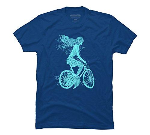 Mermaid on a Bike Men's 3X-Large Royal Graphic T Shirt - ...