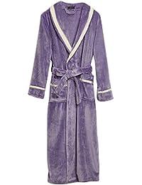 Lover Robe Coat❤️Foncircle Couple Winter Long Bathrobe Splicing Home Clothes 92ee36108