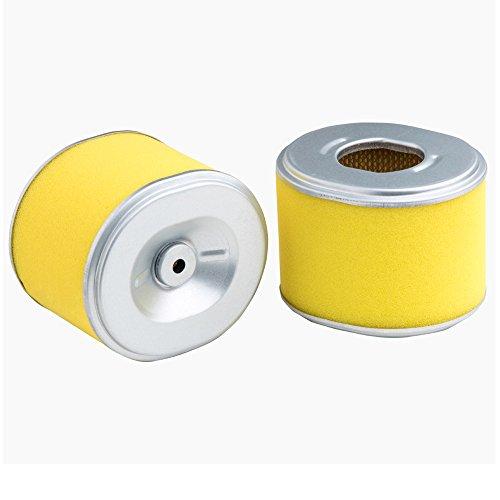 HEYZLASS 2-Pack 17210-ZE2-515 Air Filter, Replace for Honda GX240 GX270 8 HP 9 HP OEM Air Cleaner and More, Plus Foam Pre Filter ()