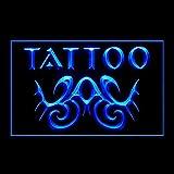 100108 Tattoo Tribal Wings Amazing Artwork Skull Display LED Light Sign