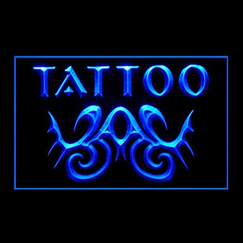 100108 Tattoo Tribal Wings Amazing Artwork Skull Display LED Light Sign by Easesign