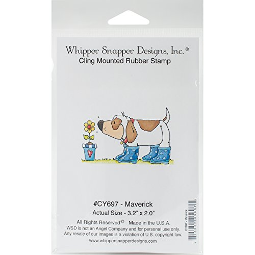 """Whipper Snapper Designs CY697 Maverick Cling Stamp, 4"""" by..."""