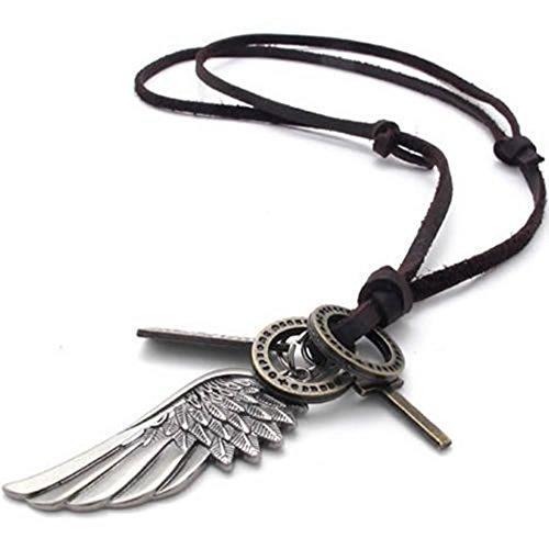 victoria-echo-mens-vintage-brown-leather-cord-angel-wing-cross-pendant-necklaceadjustable