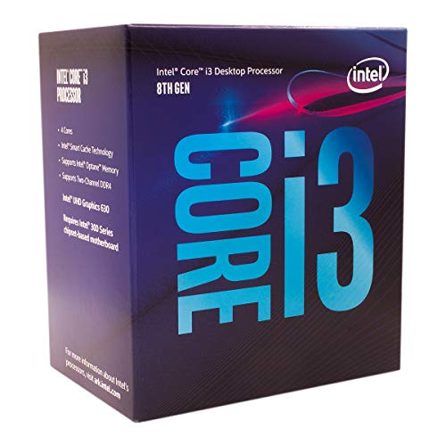 (Intel Core i3-8100 Desktop Processor 4 Cores up to 3.6 GHz Turbo Unlocked LGA1151 300 Series 95W)