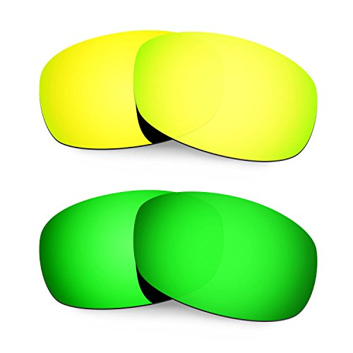 Hkuco Mens Replacement Lenses For Costa Brine 24K Gold/Emerald Green - Brine Costa Lenses