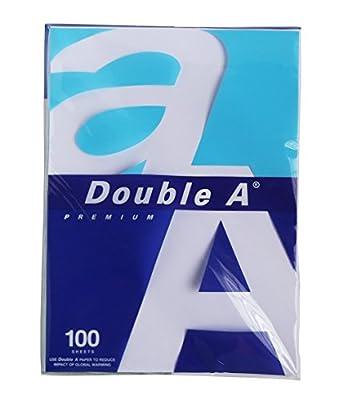 Double A Premium Copy Paper 80gsm. Size: 210x297mm. Total 100 Sheets.