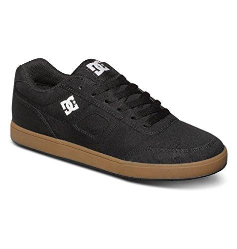 DC Men's Cue TX Skate Shoe,Black/Gum,7.5 M US