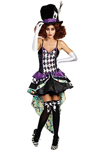 Dreamgirl Women's Whimsical Hatter Madness Storybook Costume Dress,