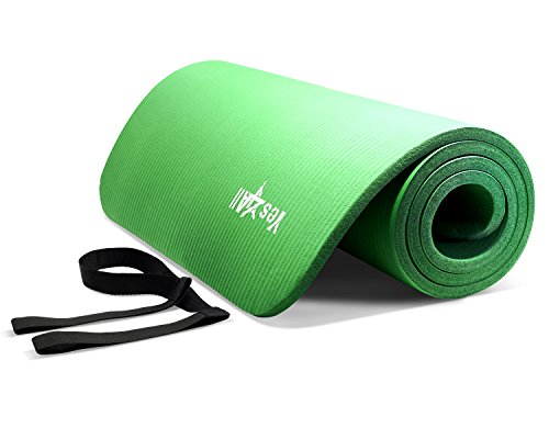 GREEN NPR Yoga Mat 72x24x1/2