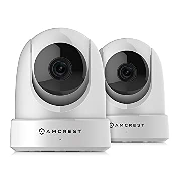 Image of 2-Pack Amcrest 4MP UltraHD Indoor WiFi Camera, Security IP Camera with Pan/Tilt, Two-Way Audio, Remote Viewing, Dual-Band 5ghz/2.4ghz, 4-Megapixel @~20FPS, Wide 120° FOV, 2PACK-IP4M-1051W (White) Dome Cameras