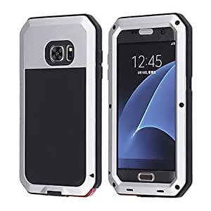 LOGROTATEAluminum Waterproof Shockproof Gorilla Glass Case for Samsung Galaxy S7(Assorted Color) ( Color : Silver , Compatible Models : Galaxy S8 )