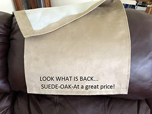 Recliner Headrest Cover Chair Head Pad Suede-Oak Inventory Size 14x30, Use on Theater Seats,Recliners,Sofa (Headrest Covers For Chairs)