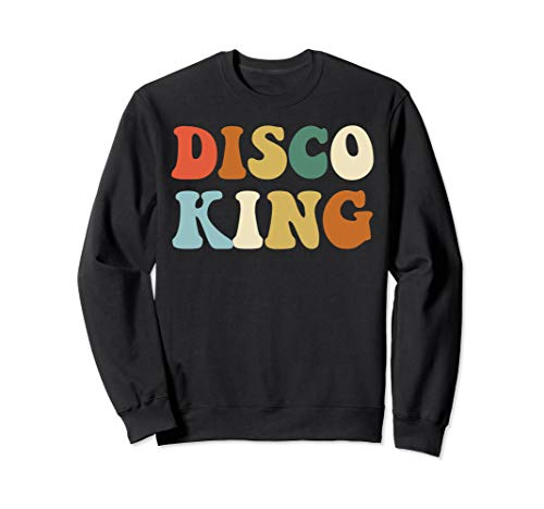 Disco King Sweatshirt 1970s Disco Queen Matching -